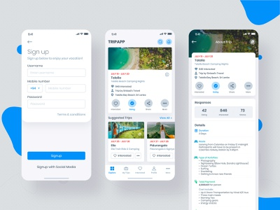Trip Booking App ui design mobile apple trip app uidesign mockup mobile app concept user interface inspiration app iphone x userinterface ux ui ios