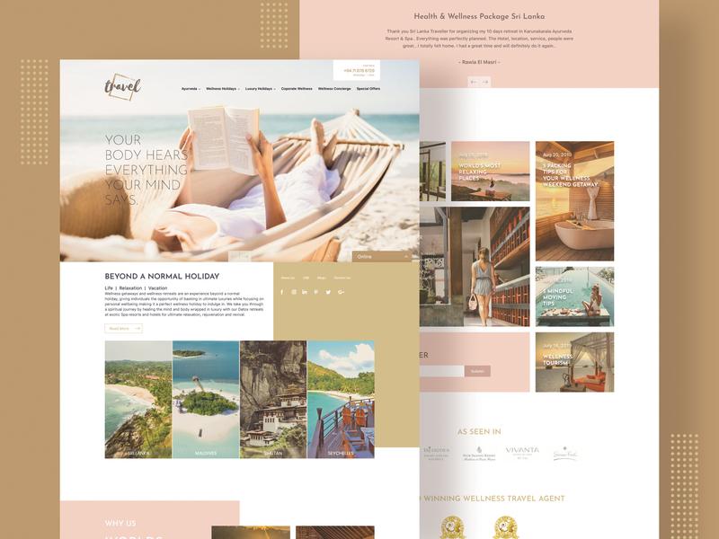 Luxury Travel Website mockup web design template web template website mockup website concept website website design webdesign concept userinterface ux ui