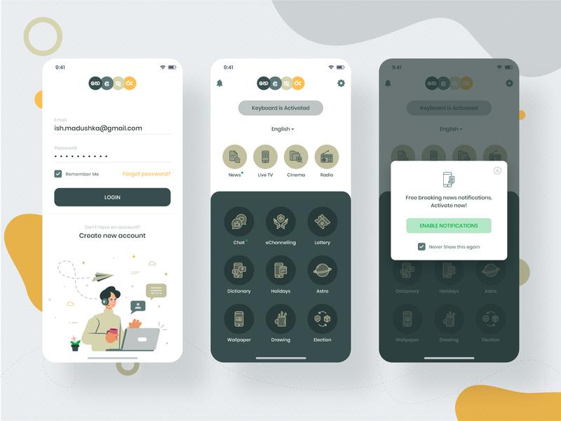 Digital Service App (Helakuru) android mockup iphone x userinterface uplabs app inspiration mobile app design mobile app ux design ui design design app ui concept service digital ios app ios