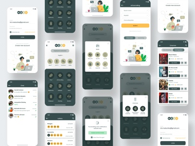 Digital Service App mobile app user interface inspiration app iphone x apple userinterface ux ios ui
