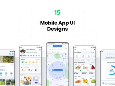 Mobile App UI Design: Showcase 2019 ui design user interface mobile app concept app inspiration userinterface ux ios ui