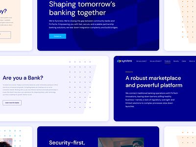 Synctera - Fintech Website web branding fintech branding ui  ux ui design design