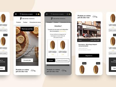 Premiere Moisson // Livraison components figma web design hoffman ui  ux ui design mobile ui ui web app premiere moisson