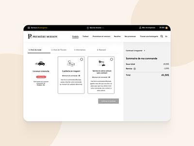 Premiere Moisson // Commande branding ui website design website options ui cart figma ui  ux hoffman design ui design premiere moisson