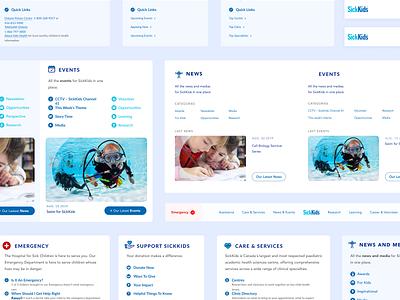 Sickkids // Menus big menu topbar menu hospital website ui  ux ui design hoffman design sickkids