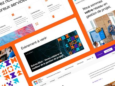 PMI Montreal // Interfaces orange icons ui web figma ui  ux ui design hoffman design interface design interface