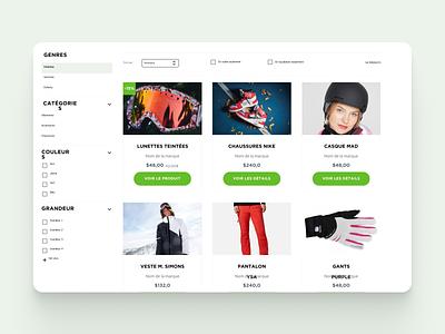 Ski Saint Bruno // eShop ui web figma ui  ux ui design hoffman design ecommerce design ecommerce eshop