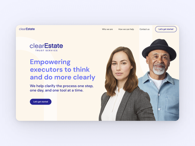 Clear Estate // Homepage ui web figma hoffman design ui  ux ui design homepage ui homepage