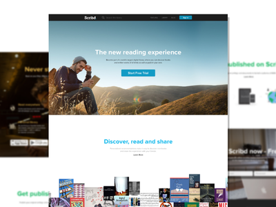 Scribd Website Concept