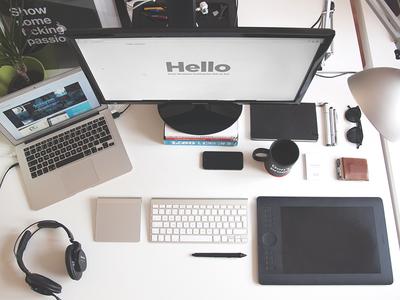 Workspace workspace office designer wacom macbook freelancer