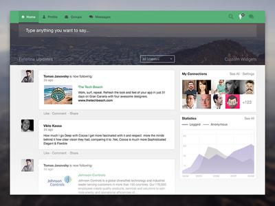 Dashboard Exploration ui ux app dashboard social graph