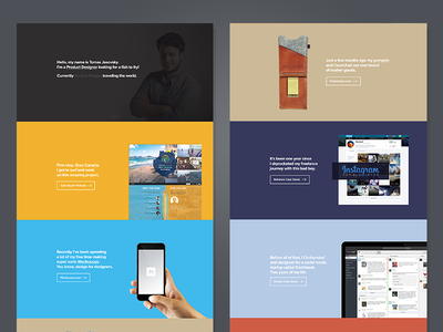 New Portfolio Launched! webdesign portfolio website landing page product designer