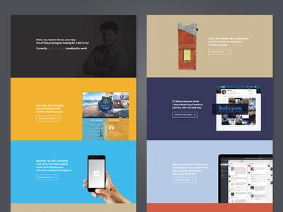 New Portfolio Launched! webdesign portfolio website landing page product designer
