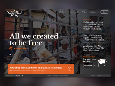 Fight Human Trafficking  website design responsive mobile web human trafficking charity