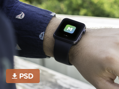 FREE Apple Watch Mockup resources template free psd mockup iwatch watch apple