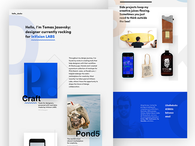 New portfolio launched! may1reboot landingpage craft launch portfolio