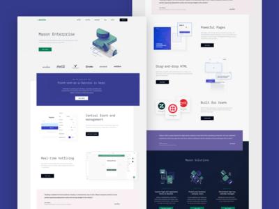 Mason Enterprise landing page web app collaboration developer tool design tool