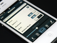 UI Kit example of usage ui kit retina iphone psd