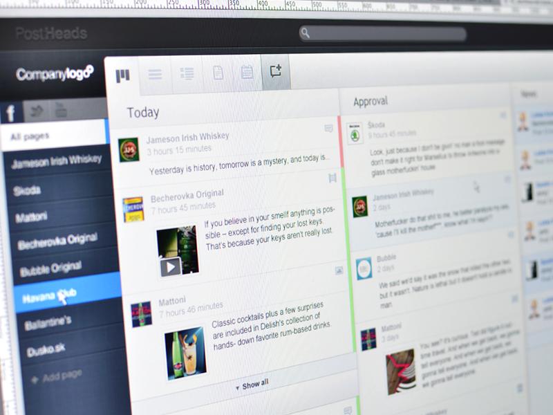 PostHeads Dashboard dashboard web app ui social media