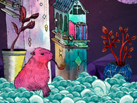 Kapybara deep in thought