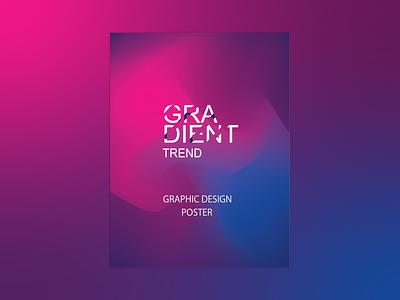Gradient Poster design poster graphic design