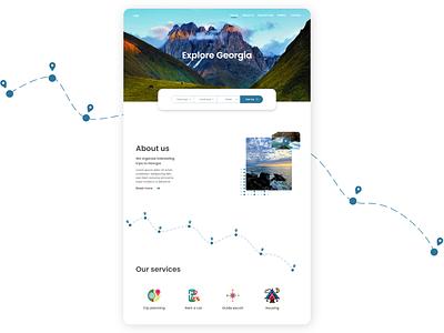 """""""Explore Georgia"""" web-design website design travel web-design ux ui design"""