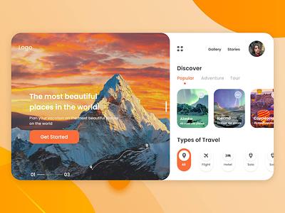 Travelling web-site design website design travel website web-design ux ui design