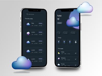 Weather forecast app design app design xd app ui ux design