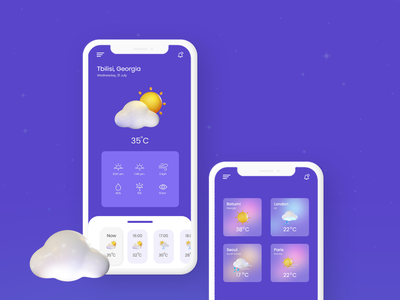 Weather app design weather adobe xd weather forecast ux design uiux design weather app ui weather app weather ui ui elements ui design mobile design web-design ui ux design
