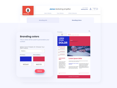 James Marketing Amplifier Marketing Automation Application web app design app development design branding ui ux app design marketing automation web app app