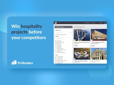 ProTenders - All-in-One Construction Platform promo graphic contech ui ux app design web application web app