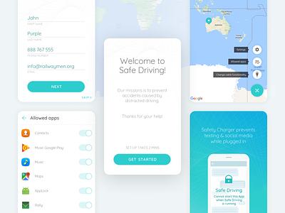 Safe Driving - Mobile App mobile design mobile app branding ux  ui design app development mobile app development mobile app design app design