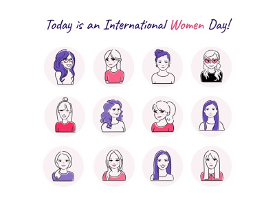 International Women Day 2021 design icon vector illustration art people people illustration branding illustration