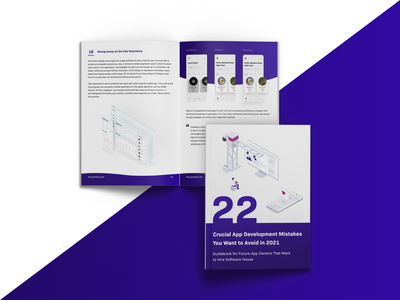 Free Ebook: 22 Crucial App Development Mistakes app development company software house typography app development branding illustration ebook ebook cover ebook layout ebook design visualization