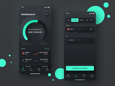 The concept of fintech app financial app ux ui design app design app development fintech app app concept mobile app