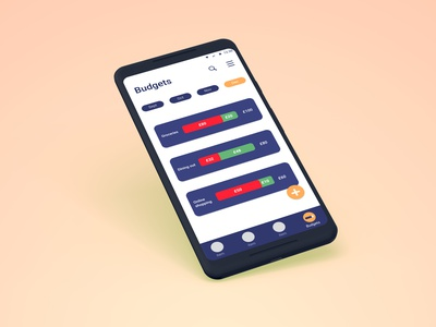Budgeting feature for banking mobile app ui ux figma design uidesign ux design prototype mobile app mobile banking app featue budgeting