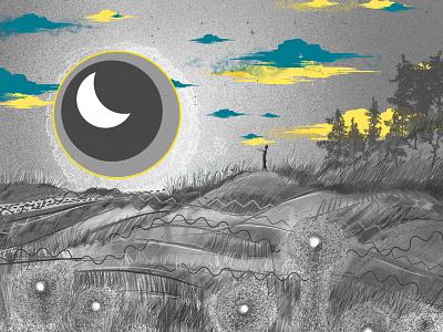 Night Horizon - digital illustration digitalart digital dancers dance illustration designer design art design artwork artist art direction art