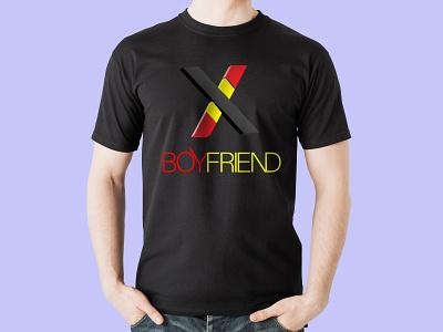 X BOY FRIEND design icon branding illustration typography t shirt design t shirt