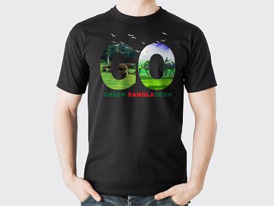 "Green Bangladesh- T Shirt""Go"" typography t shirt design t shirt illustration branding logo"