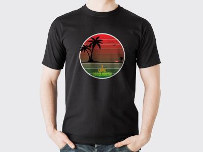 green bangladesh coconat tree2 icon logo t shirt design t shirt