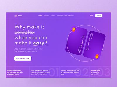 Wallet Web UI product design ui design ux design easy purplefinance uiboost nubank app financial purple web design ui