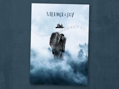 Music poster design graphic silence poster music
