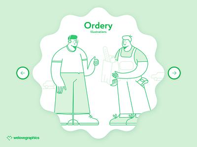 Ordery - Food Delivery illustration art startap vector figma website food app delivery food illustrator illustrations