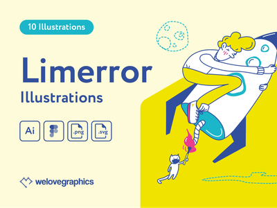 Limerror Illustrations illustration art adobe figma notifications page error 404 errors illustrations illustrator