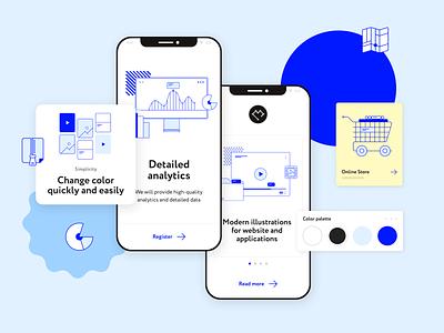 Proline design illustrator illustration figma crm website mobile app pack interface illustrations/ui vector illustrations