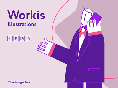 Workis Illustrations figma illustrations vector partner team office work business