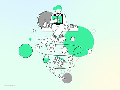 Funnel Illustration design ui app figma illustrator pack website illustrations illustration vector