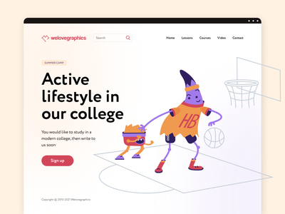 Sport class illustration illustrations app website pack figma illustrator illustraion vector basket basketball class sport