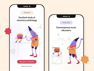 Class college school class music website app illustrations illustrator illustration vector