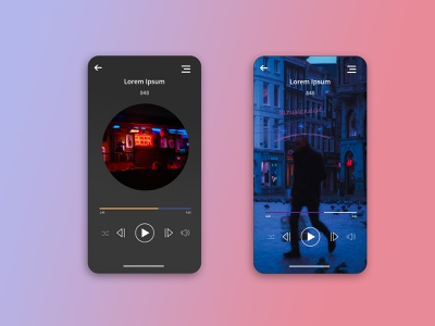 DailyUI 09/100 - Music Player digital mucicplayer app mobile ux ui design dailyuichallenge dailyui
